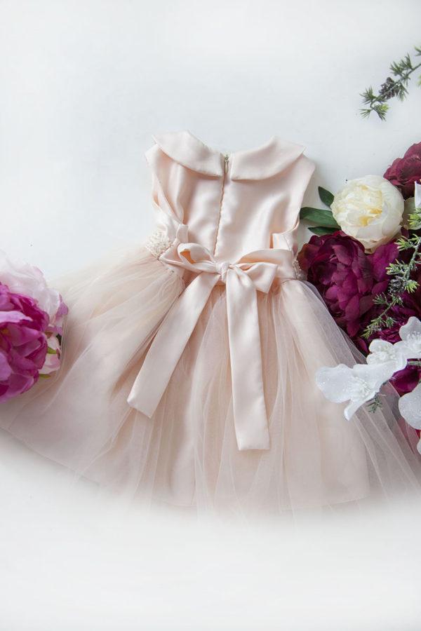 Robe de cérémonie pour bébé avec ceinture