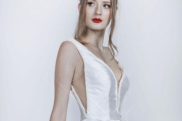 Robe de mariée simple et bohème