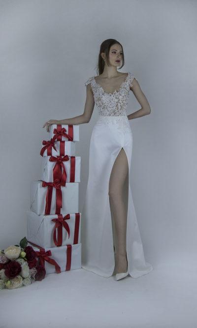 Robe de mariée osée avec un bustier transparent