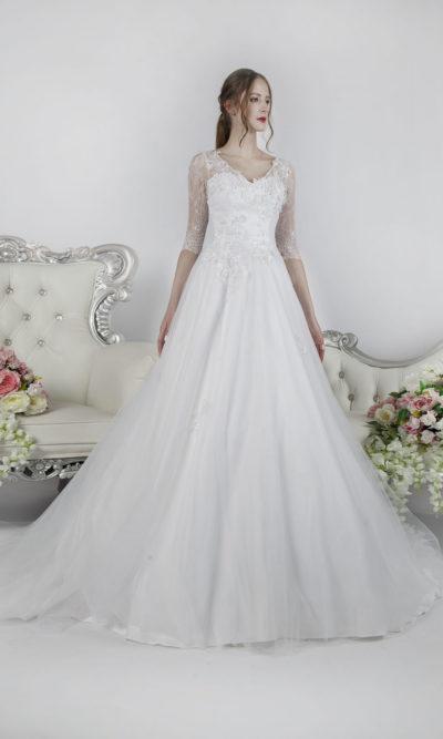 Robe de mariée pour la plus belle des mariées à Paris