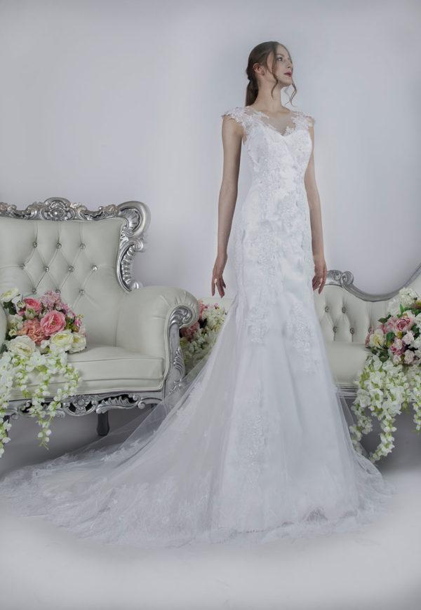 Robe de mariée de coupe trapèze pour une belle silhouette