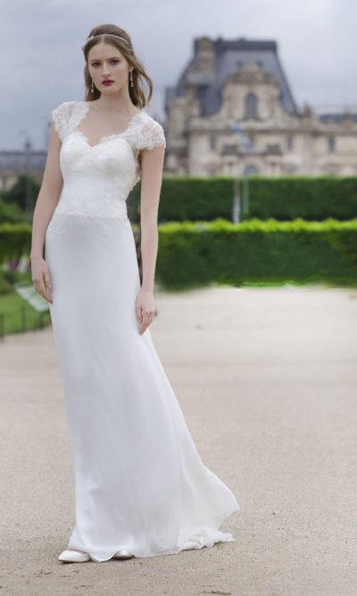 Robe de mariée en mousseline chic