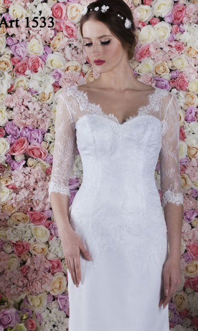 Robe de mariée sirène blanche et sexy