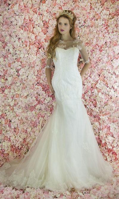 RObe de mariée sirène romantique et élégante