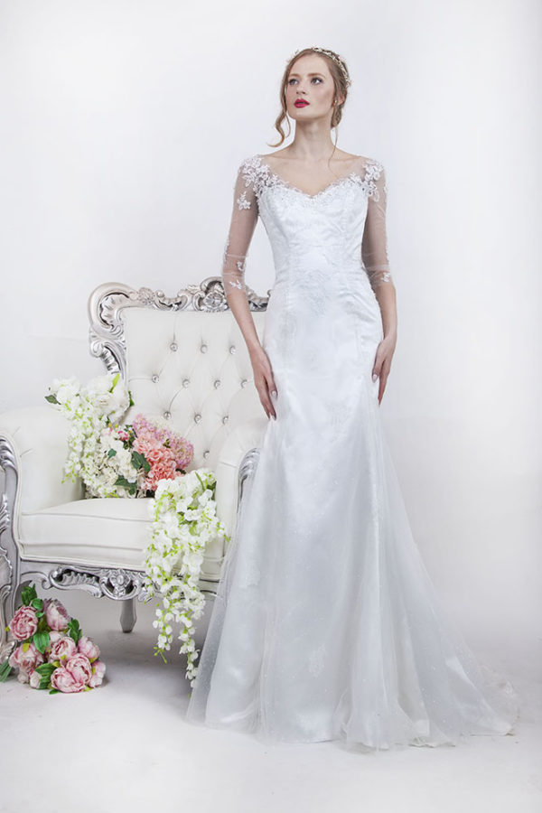 Robe de mariage princesse avec paillettes