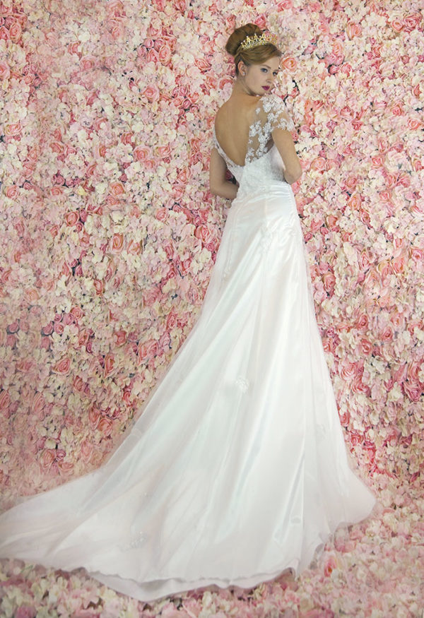 Robe de mariée sirène forme trapèze