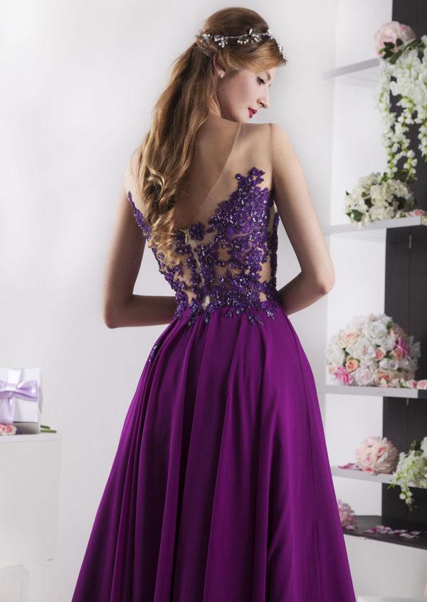 Robe du soir pour mariage ou bal couleur prune
