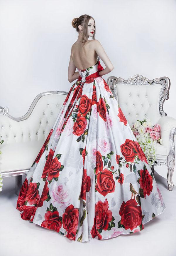 Robe bal de Vienne fleurie et princesse