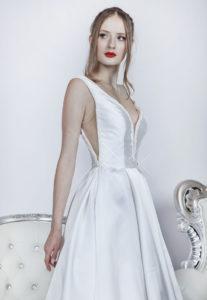 Robe de mariée avec bustier original et sexy