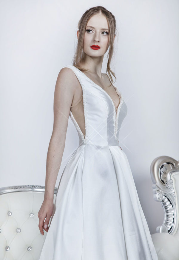 Robe de mariage courte avec bretelles