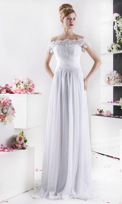 Robe de mariée d'une allure bohème aérée