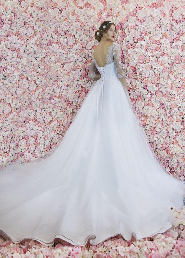 Robe de mariée à corset et laçage