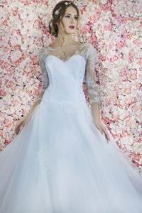 Robe de mariée féerique de couleur blanc