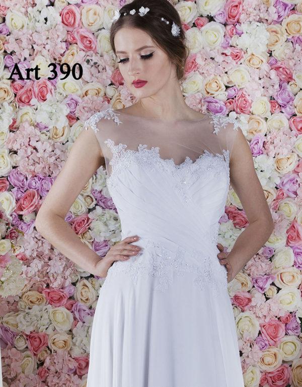 Robe de mariage avec un corset à drapé