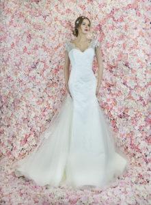 Robe de mariée sirène avec de la dentelle française