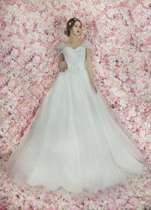 Robe de mariée de style princesse avec des broderies en perles