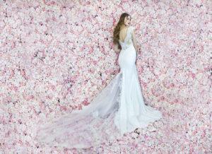 Silhouette de sirène d'une robe de mariée