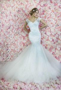 Un haut sophistiquée d'une robe de mariée