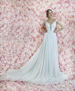 Robe de mariée originale avec jeu de transparence