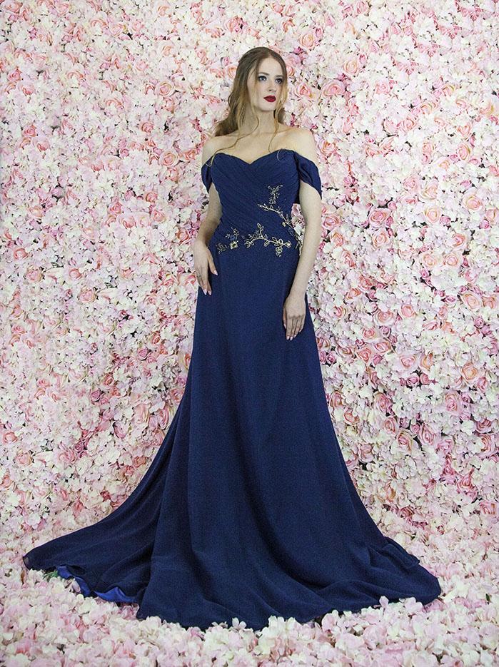 Robe De Soiree Grande Taille Bleu Nuit Robe Paris
