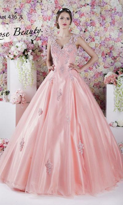 Robe de soirée très volumineuse et princesse