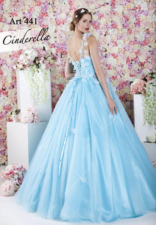 Robe de princesse pastel avec fleurs