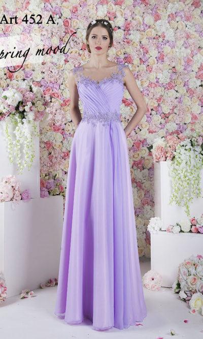 Robe de soirée bohème chic violet fluide aéré