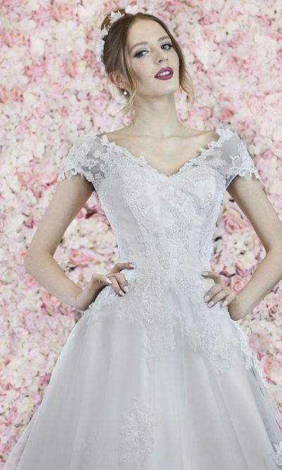 Robe de mariage bustier près du corps