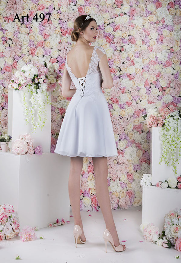 Robe de mariée courte simple coupe patineuse