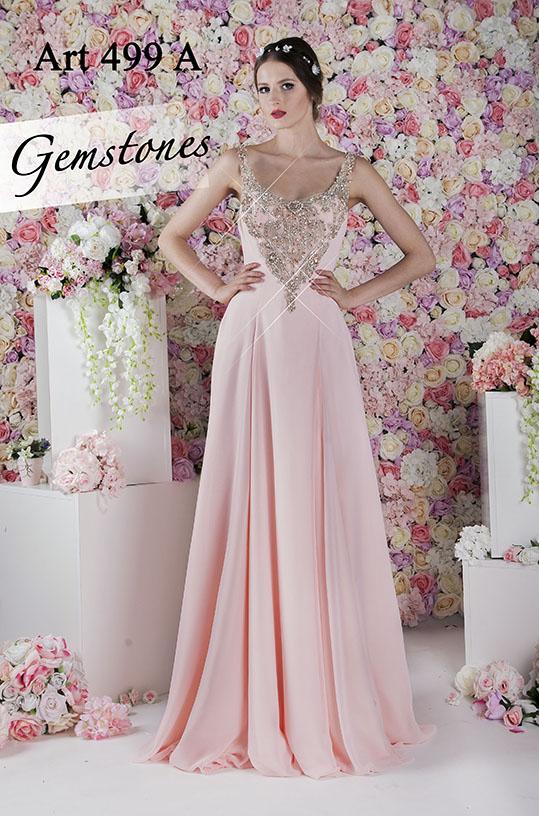 Robe de soirée rose romantique et féminine
