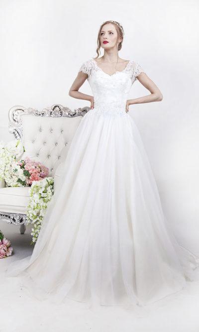 Robe de mariée coupe trapèze Paris