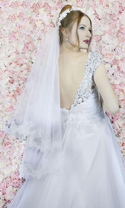 Voile de mariée en dentelle Paris