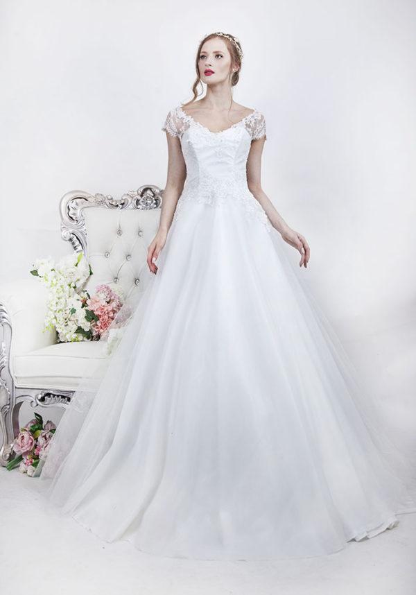 Robe de mariage boutique à Paris style princesse