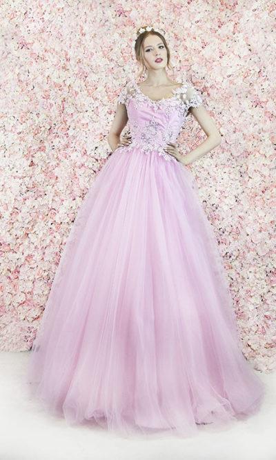 Robe de soirée pour princesse couleur rose