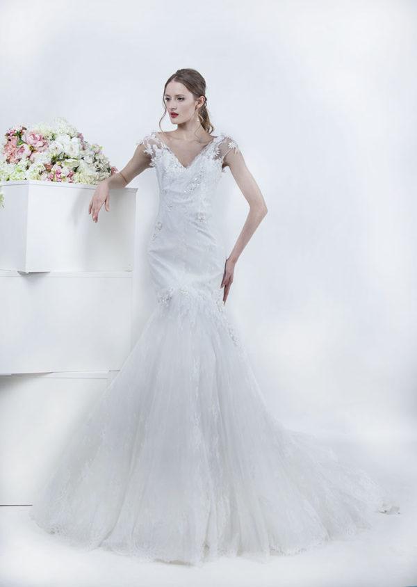 Robe de mariée sirène décolleté en coeur