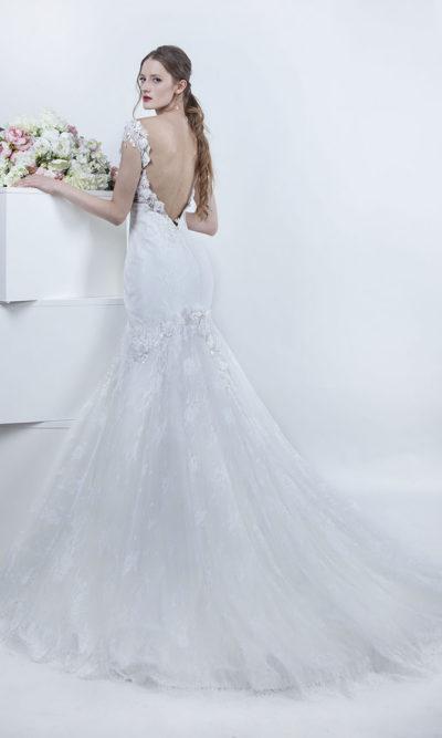 Robe de mariée sirène dos nu en V