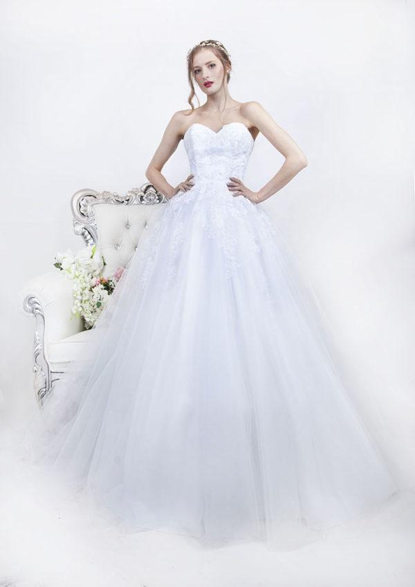 Robe de mariage bustier coupe princesse