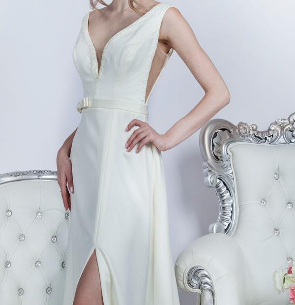 Robe de mariage vanille couleur originale