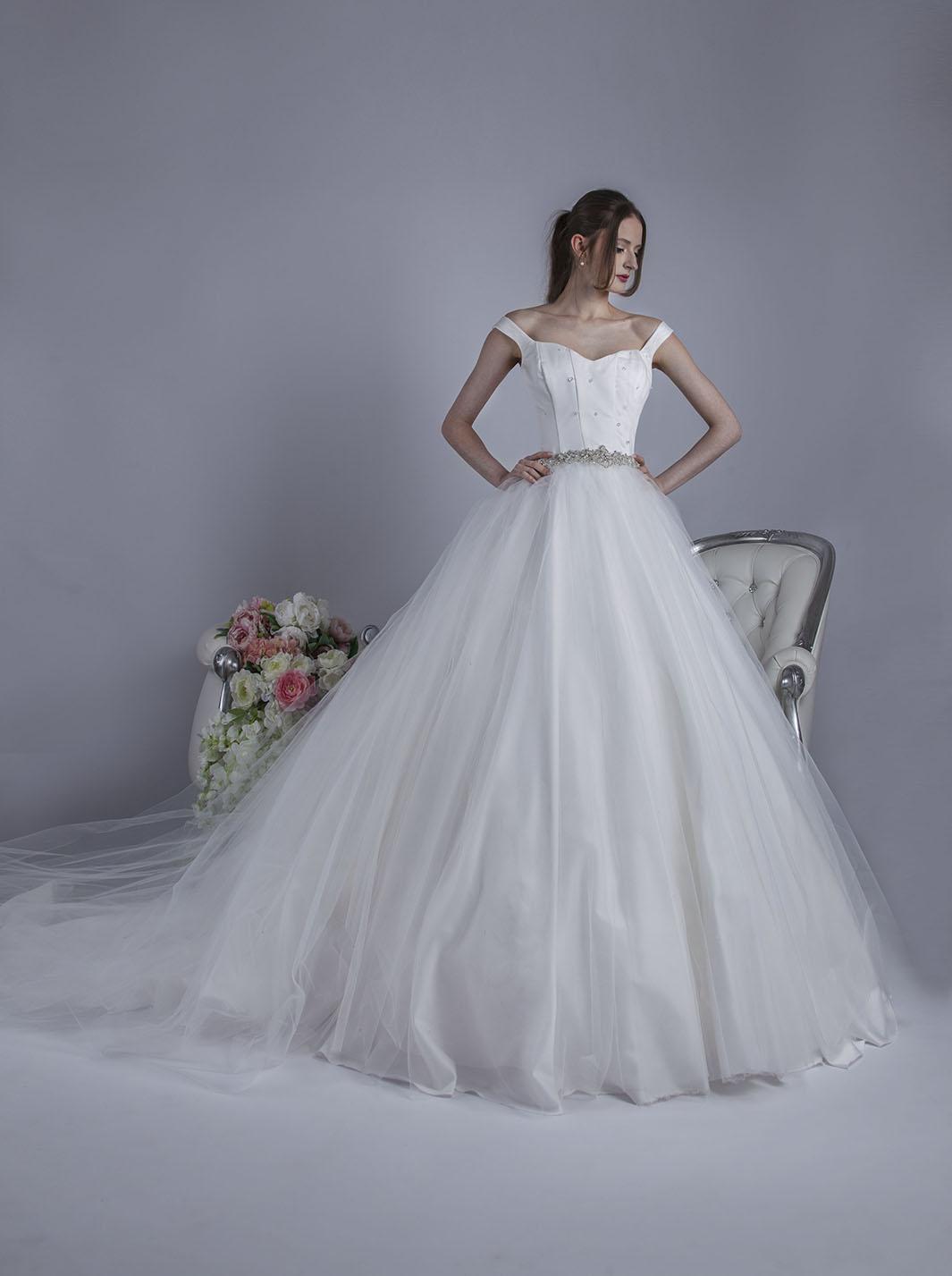 comment choisir hot-vente dernier meilleur fournisseur Robe de mariée en tulle souple et des bretelles