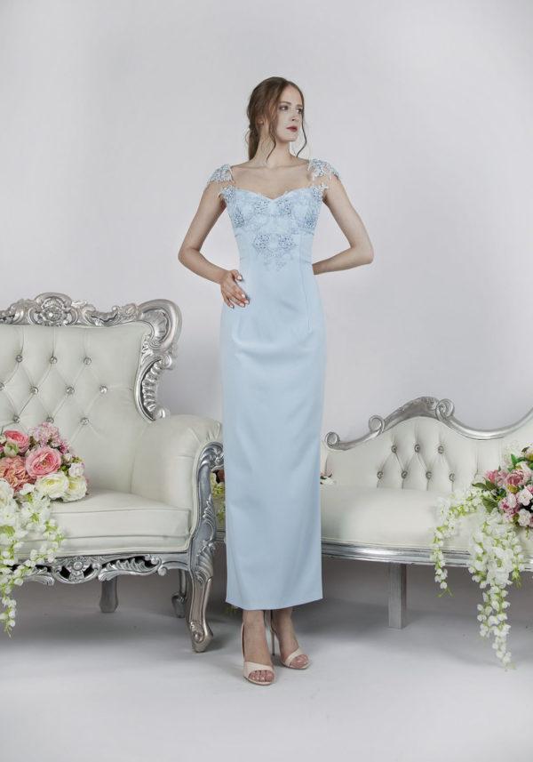 Robe de soirée bleu boutique Paris