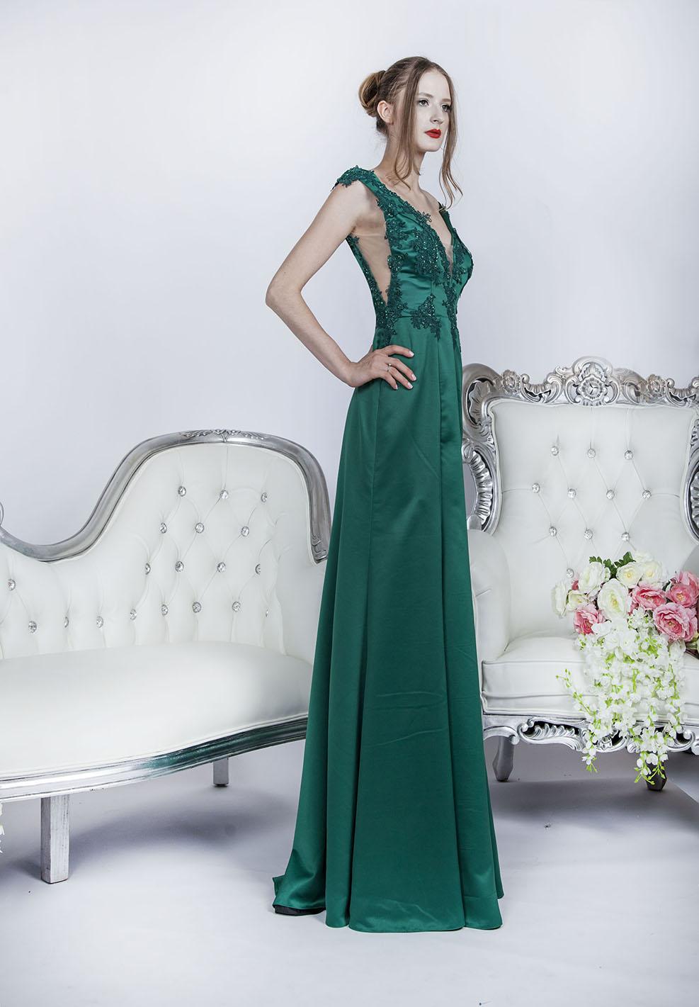 Robe de soirée épurée pour mariage noble et bohème