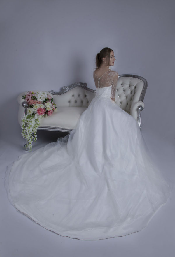 Robe de mariée fluide en tulle