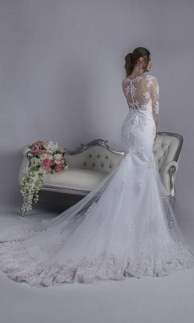 Robe de mariage Paris sirène sur mesure créatrice