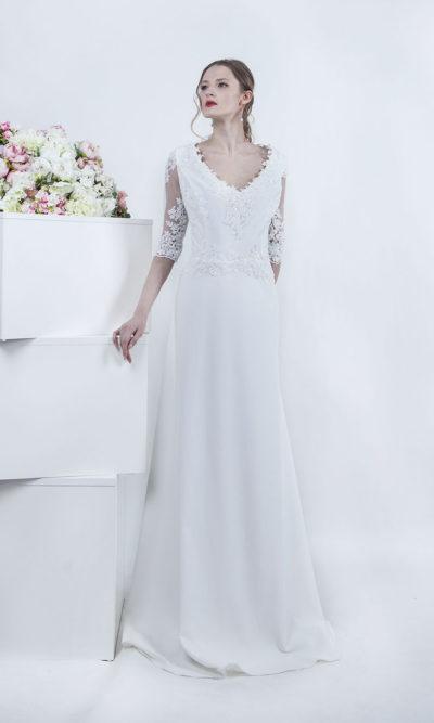 Robe de mariage avec manches grande taille