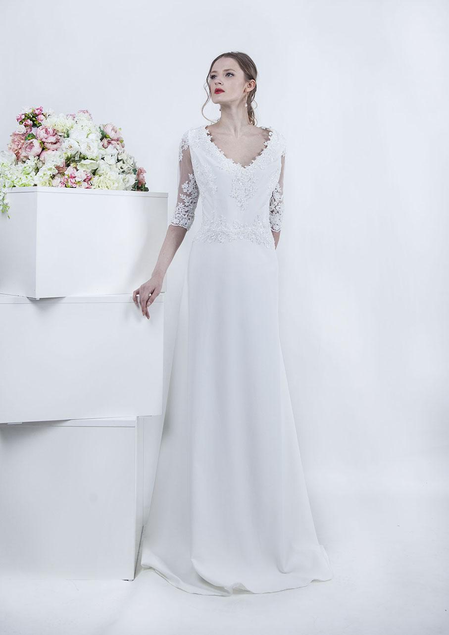 Une robe de mariée Paris - jupe en crepe