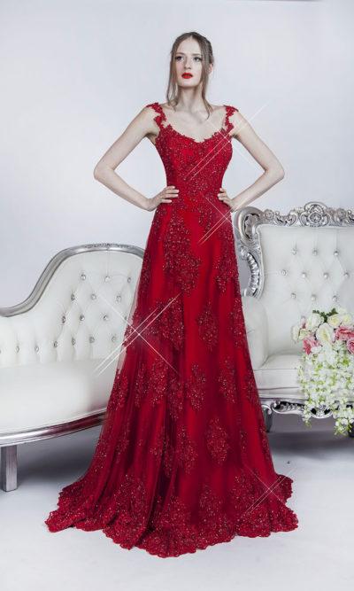 Haute couture robe de soirée sur mesure créateur à Paris