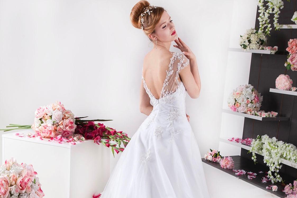 Robe de mariage de couleur blanc Paris