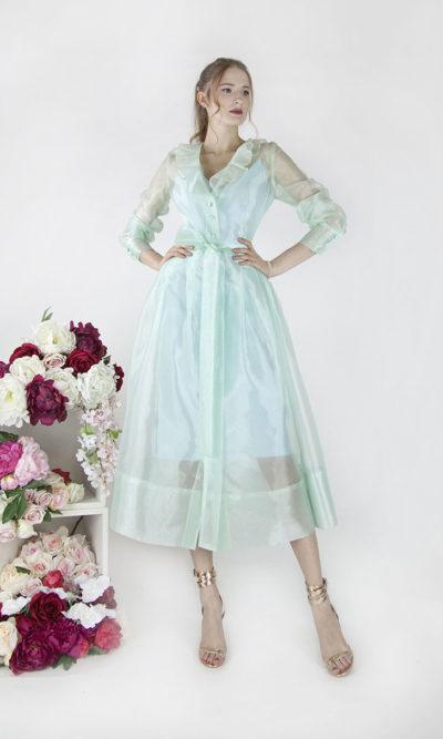 Robe de soirée élégante mi-longue