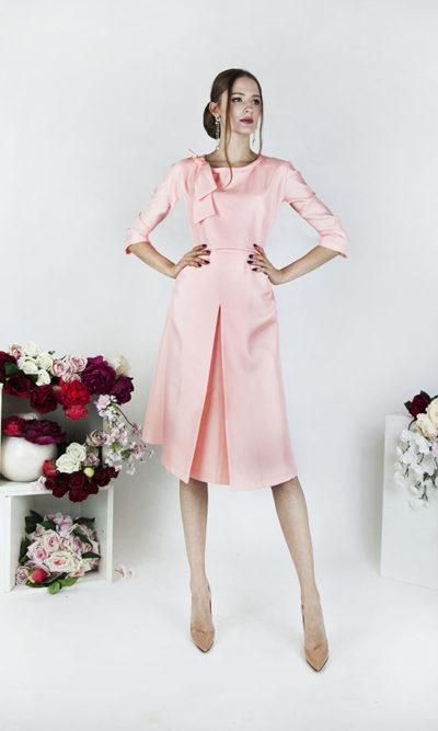 Robe de cocktail courte pour mère mariée avec manches