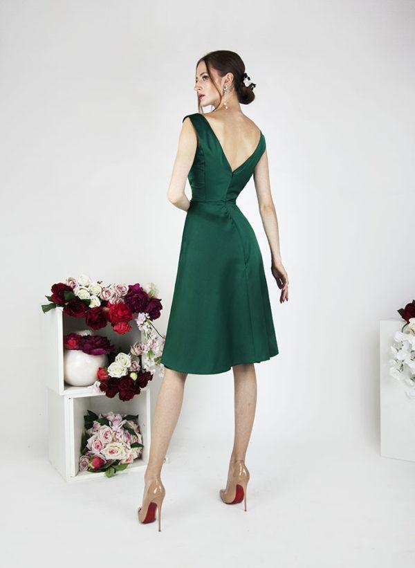 Robe de soirée courte vert émeraude